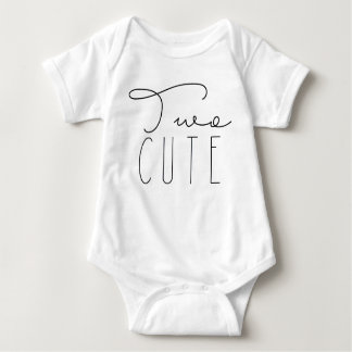Two Cute | Second Birthday Party Baby Bodysuit