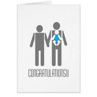 Two Dads and a Son - Congratulations!! Note Card