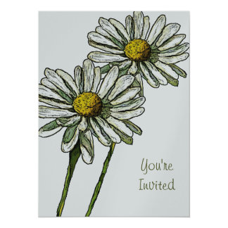 Two Daisies: Invitation For Any Occasion: Art