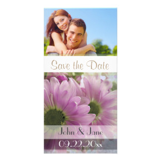 """Two Daisy /photo  """"Save the Date"""" Customized Photo Card"""