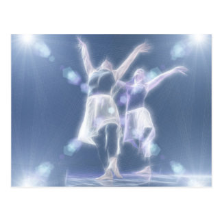 Two Dancers in light Postcard