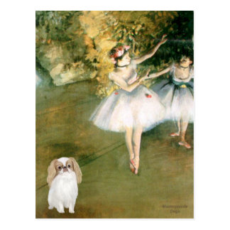 Two Dancers - Japanese Chin (L1) Postcard