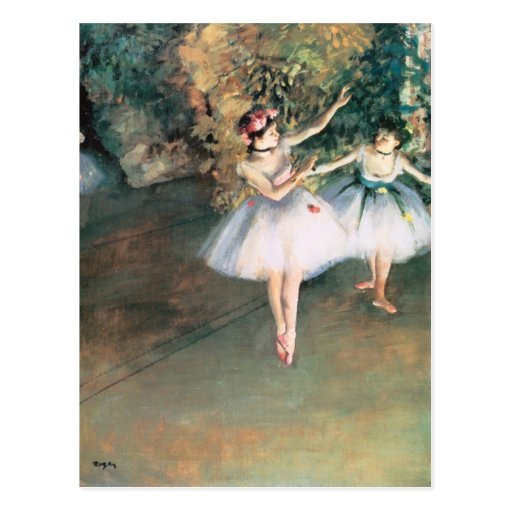 Two Dancers on A Stage 1874 Degas Postcards