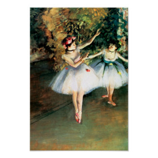 Two Dancers on a Stage by Degas Poster
