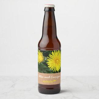 Two Dandelions Personalized Wedding Beer Bottle Label
