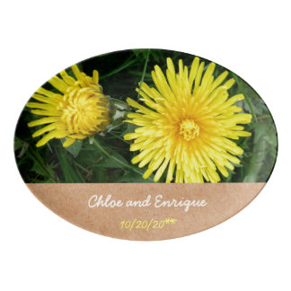 Two Dandelions Personalized Wedding Porcelain Serving Platter