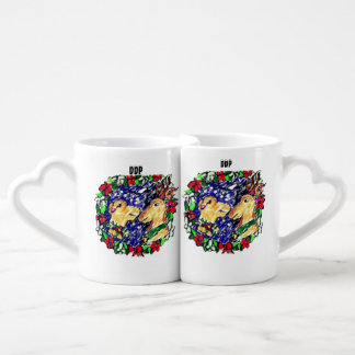 two deer love coffee mug set