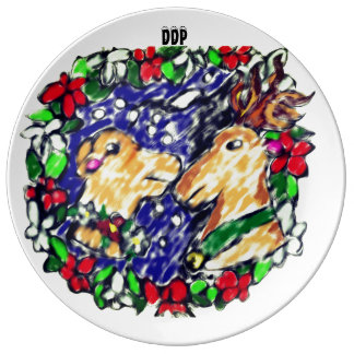 two Deer love Plate