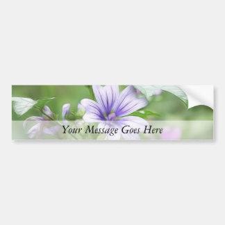 Two Delicate Mallow Flowers Car Bumper Sticker