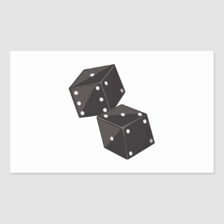 Two Dice Rectangular Stickers