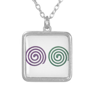 Two different scented mosquito coils silver plated necklace
