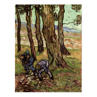 Two Diggers Among Trees, Van Gogh Fine Art Postcard