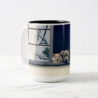 Two Doggies In The Window Two-Tone Mug