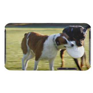 Two Dogs Fighting over Plastic Disc iPod Touch Case