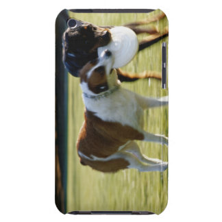 Two Dogs Fighting over Plastic Disc iPod Case-Mate Cases