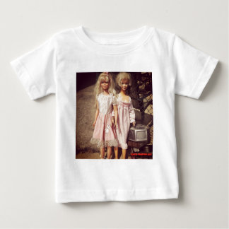 Two Dolls Looking for A New Home Photo Baby T-Shirt