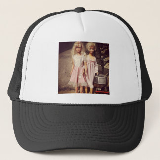 Two Dolls Looking for A New Home Photo Trucker Hat