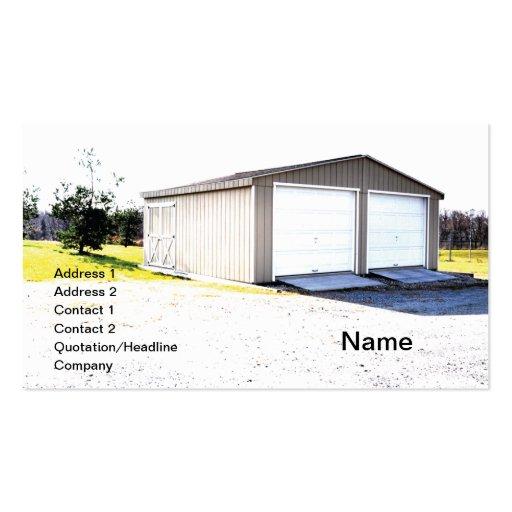 two door detached garage business card