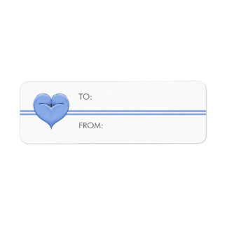 Two Doves One Heart blue Small Gift Tag Return Address Label