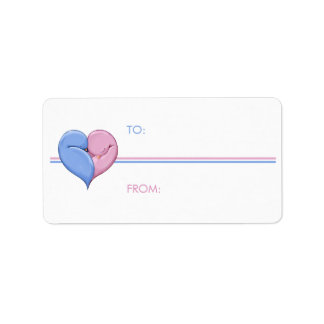 Two Doves One Heart Gift Tag Address Label