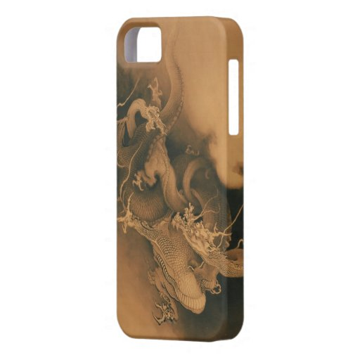 Two Dragons in Clouds Vintage iPhone 5 Covers