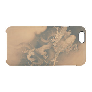Two Dragons in Clouds Vintage Clear iPhone 6/6S Case
