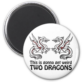 Two Dragons Refrigerator Magnet