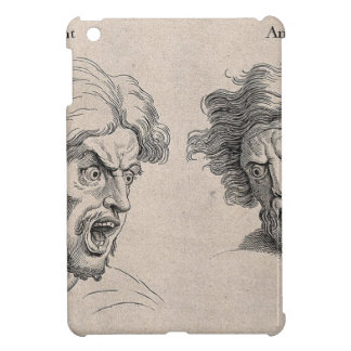 Two Drawings of Angry Faces Case For The iPad Mini
