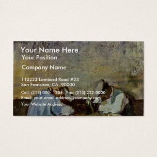 Two Drunks By Grigorescu Nicolae (Best Quality) Business Card