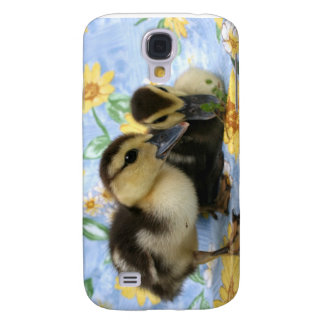 two ducklings one eyeing camera close samsung galaxy s4 case