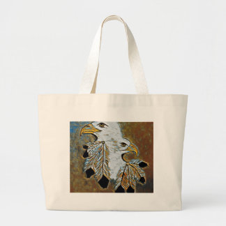Two Eagles Large Tote Bag