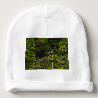 Two Eagles Perched Painterly Baby Beanie