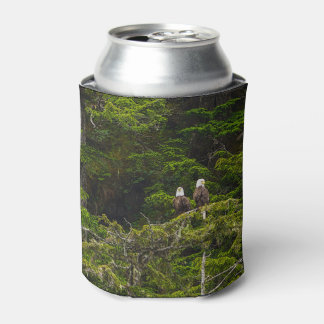 Two Eagles Perched Painterly Can Cooler