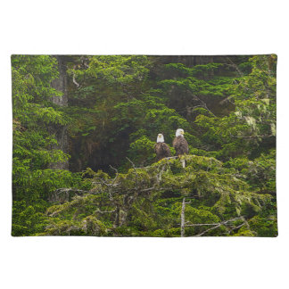 Two Eagles Perched Painterly Placemats