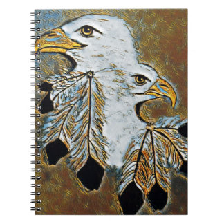 Two Eagles Spiral Notebook