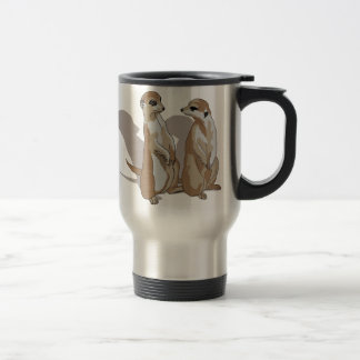 two earth males with shade travel mug