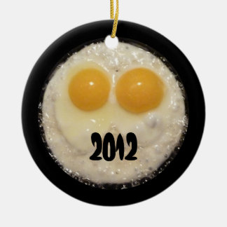 Two Eggs in Cast Iron Frying Pan Ornament