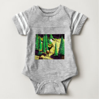 Two Elk In The Sunlight Baby Bodysuit