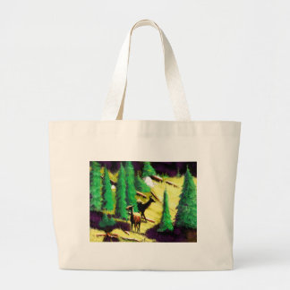 Two Elk In The Sunlight Large Tote Bag