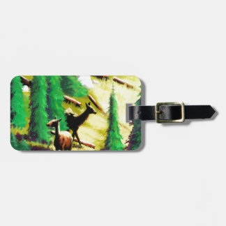Two Elk In The Sunlight Luggage Tag