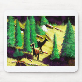 Two Elk In The Sunlight Mouse Pad