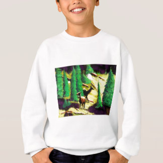Two Elk In The Sunlight Sweatshirt