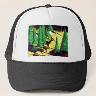 Two Elk In The Sunlight Trucker Hat