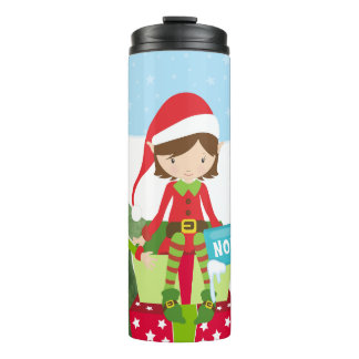 Two Elves at the North Pole Thermal Tumbler