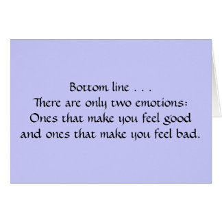 Two Emotions Card