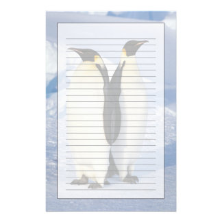 Two Emperor Penguins in Antarctica Customised Stationery