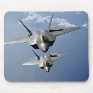 Two F-22 Raptors fly over the Pacific Ocean Mouse Pad