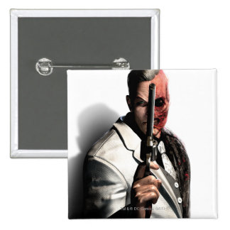 Two-Face 2 15 Cm Square Badge