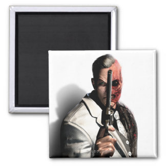 Two-Face 2 Square Magnet