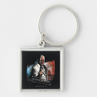 Two-Face - Convicted Silver-Colored Square Key Ring